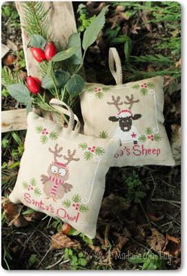 Santa's Owl & Sheep