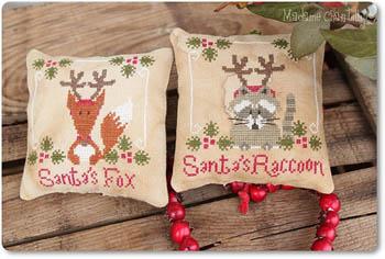 Santa's Fox & Raccoon