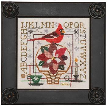 Birdie & Basket Sampler - Poinsettia