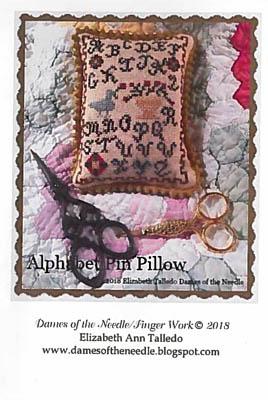 Alphabet Pin Pillow