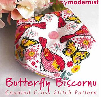 Butterfly Biscornu