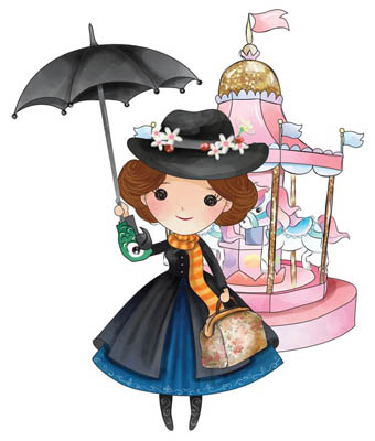 Mary Poppins Magnet