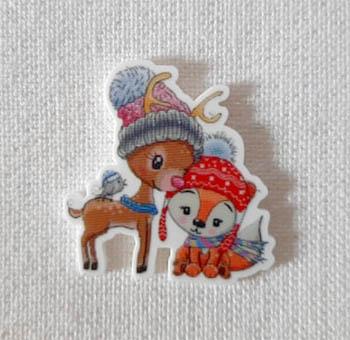 Cute Deer Fox And Friend Magnet