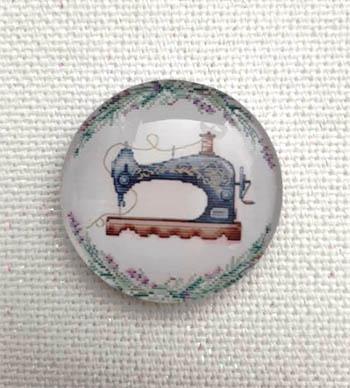 Sewing Lavender Magnet (SewingMachine)