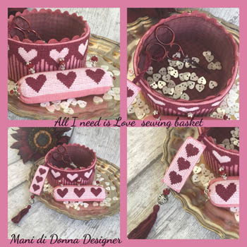 All I Need Is Love Sewing Basket
