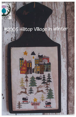 Hilltop Village In Winter