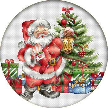 Christmas Gifts Magnet (Santaholding lantern & stocking)