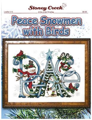 Peace Snowmen With Birds
