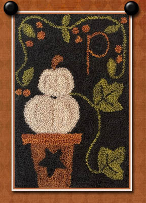 P Is For Pumpkin (Punchneedle)