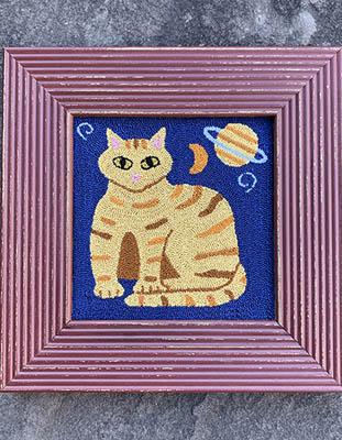 Cosmic Cat (punchneedle)