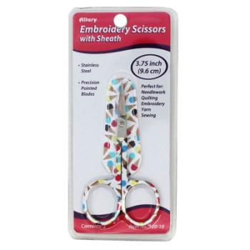 """Embroidery Ice Cream Cones Scissors 3.75"""" (Item 120)"""
